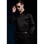 Шелковая рубашка с кристаллами Сваровски RUB011B