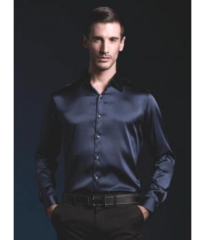 Рубашка из шелкового стрейч-атласа высокой плотности RUB011A