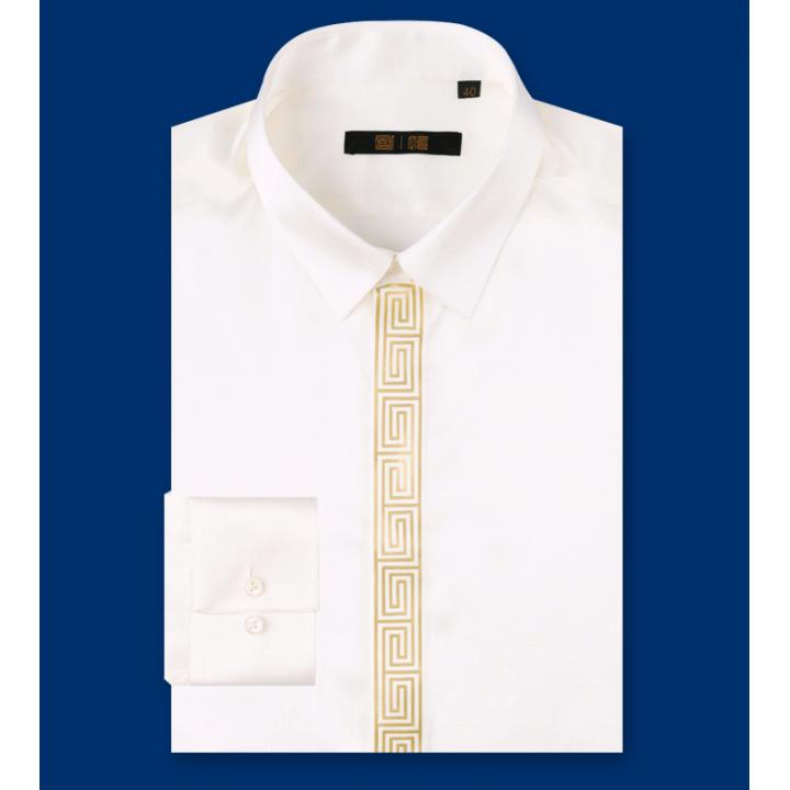 Рубашка из шелкового стрейч-атласа высокой плотности RUB015