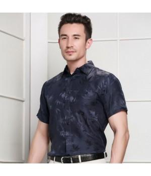 Мужская рубашка из шелка с тиснением RUB016