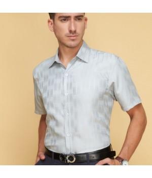 Мужская рубашка из шелка с тиснением RUB019