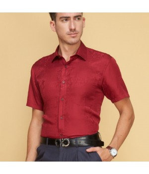 Мужская рубашка из шелка с тиснением RUB020