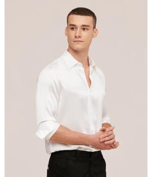 Мужская рубашка из шелкового атласа высокой плотности RUB026