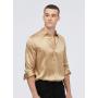 Мужская рубашка из шелкового атласа супер-высокой плотности RUB026
