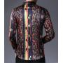 Мужская рубашка из шелкового стрейч-атласа RUB027