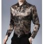 Мужская рубашка из шелкового стрейч-атласа RUB028