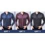 Мужская рубашка из шелкового стрейч-атласа RUB030