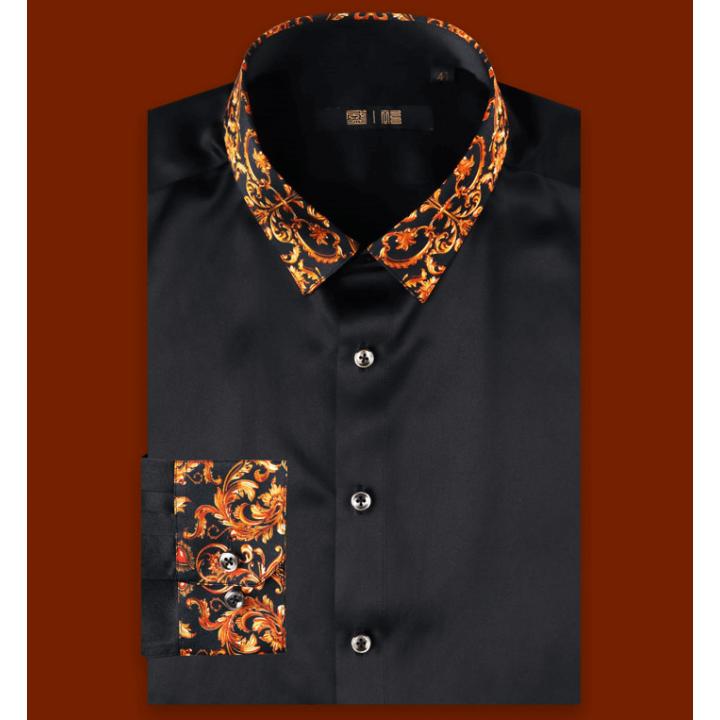 Мужская рубашка из шелкового атласа супер-высокой плотности RUB034A