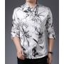 Мужская рубашка из шелкового атласа RUB036