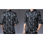 Мужская рубашка из шелкового стрейч-атласа RUB037