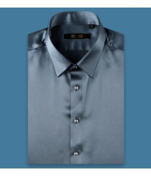 Мужская рубашка из шелкового атласа супер-высокой плотности RUB038