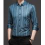 Мужская рубашка из шелкового атласа RUB040
