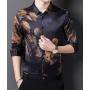 Мужская рубашка из шелкового стрейч-атласа RUB044