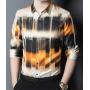 Мужская рубашка из шелкового стрейч-атласа RUB047