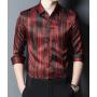 Мужская рубашка из шелкового стрейч-атласа RUB048
