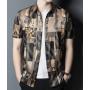 Мужская рубашка из шелкового стрейч-атласа RUB051
