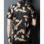 Мужская рубашка из шелкового стрейч-атласа RUB052