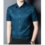 Мужская рубашка из шелкового стрейч-атласа RUB053