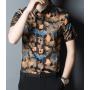 Мужская рубашка из шелкового стрейч-атласа RUB056