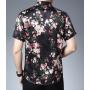 Мужская рубашка из шелкового стрейч-атласа RUB057