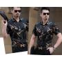 Мужская рубашка из шелкового стрейч-атласа RUB059
