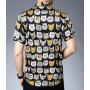 Мужская рубашка из шелкового стрейч-атласа RUB061