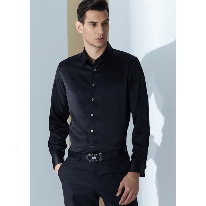Мужская рубашка из шелкового атласа супер-высокой плотности RUB065A