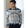 (Пошив на заказ) Мужская рубашка из шелкового стрейч-атласа высокой плотности RUB074