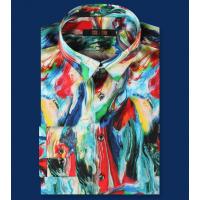 (Пошив на заказ) Мужская рубашка из шелкового стрейч-атласа высокой плотности RUB077
