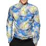 (Пошив на заказ) Мужская рубашка из шелкового стрейч-атласа высокой плотности RUB078