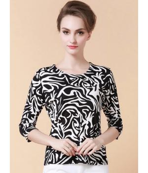 Блузка из шелкового трикотажа SHT014