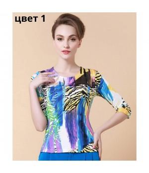 Блузка из шелкового трикотажа SHT015